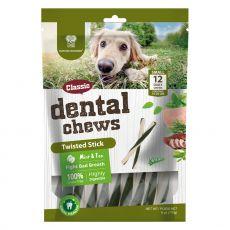 Dentálne tyčinky DENTAL Chews Twisted Stick s mätou a čajom 170 g / 12 ks