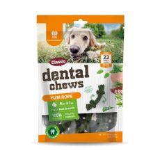 Dentálne kefky DENTAL Chews Yum Rope s mätou a čajom 170 g / 22 ks