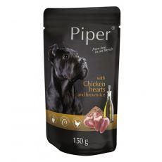 Kapsička Piper Adult s kuracími srdciami a hnedou ryžou 150 g