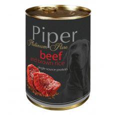 Konzerva Piper Platinum Pure hovädzie a hnedá ryža 400 g