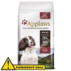 Applaws Dog Adult Small & Medium Breed Chicken & Lamb 7,5kg - POŠKODENÝ OBAL