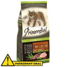 Primordial GF Cat Adult Duck & Turkey 5,7 kg - POŠKODENÝ OBAL