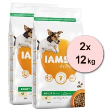 Iams Dog Adult Small Medium, Chicken 2 x 12 kg