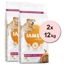 Iams Dog Senior Large Breed, Chicken 2 x 12 kg