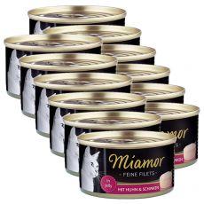 Konzerva Miamor Filet kura a šunka 12 x 100 g