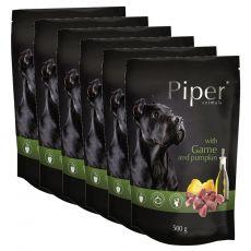 Kapsička Piper Adult s divinou a tekvicou 6 x 500 g