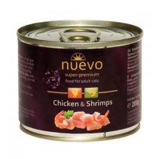 Konzerva NUEVO CAT Adult Chicken & Shrimps 200 g