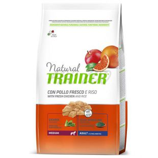Trainer Natural Adult Medium, kura a ryža 3 kg