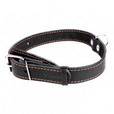COLLAR kožený obojok pre psa čierny 32 - 40 cm, 20 mm