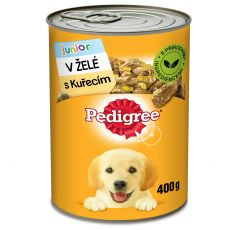 Pedigree konzerva s kuracím v želé pre šteňatá 400g