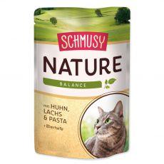 Schmusy Nature kapsička kuracie a losos 100 g