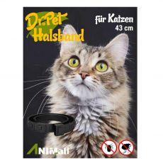 Dr.Pet antiparazitárny obojok pre mačky ČIERNY 43 cm
