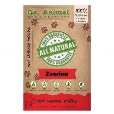 Dr.Animal 100 % zverina mäsové prúžky 80 g
