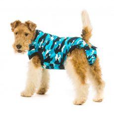 Pooperačné oblečenie pre psa XXS kamufláž modrá