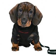 Postroj a vodítko pre psíkov - čierny
