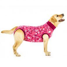 Pooperačné oblečenie pre psa L kamufláž ružová
