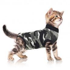 Pooperačné oblečenie pre mačku XXXS kamufláž