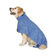 Župan pre psa - modrý - 40cm