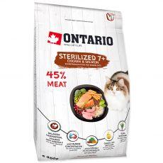 Ontario Cat Sterilised 7+, 400 g