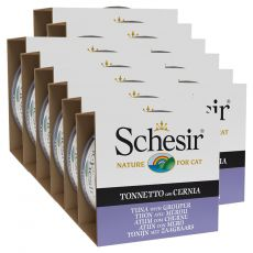Schesir cat tuniak a kanic v želé 12 x 85 g