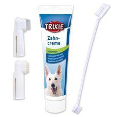 Dentálna hygiena pre psa - zubná pasta + kefky