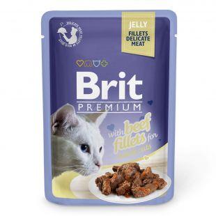 Kapsička BRIT Premium Cat Beef in Jelly 85 g