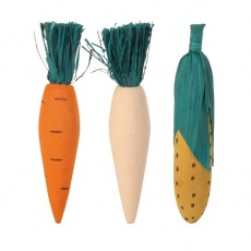 Drevené hračky pre hlodavce - 3ks zeleniny - 10 cm