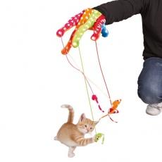 Hračka pre mačky - rukavica s myškami