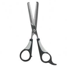 Nožnice na srsť, efilačné - duplované, 18 cm