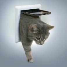 Dvierka pre mačky s dvoma polohami - biele