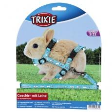 Postroj s vodítkom pre trpasličie králiky - svetlomodrý