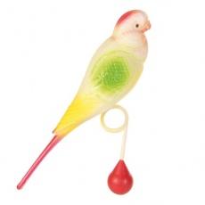 Hračka pre vtáky - andulka s guličkou, 15 cm
