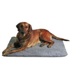 Ležadlo pre psov sivé - 100 × 75 cm