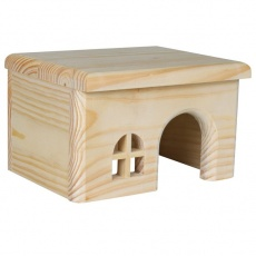 Domček pre hlodavce, rovná strecha - malý