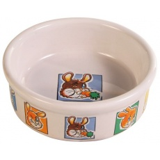 Miska pre zajace keramická s obrázkami - 300 ml
