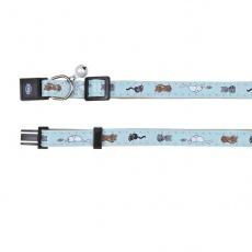 Obojok pre mačky, modrý - mačiatka - 18 - 30 cm