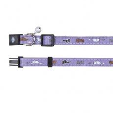 Obojok pre mačky, fialový - mačiatka - 18 - 30 cm