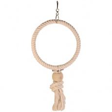 Hračka pre vtáky - kruh z lana, 19 cm