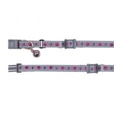Obojok pre mačky reflexný, ružový zvonček - 15 - 20 cm