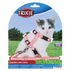 Postroj s vodítkom pre mačiatko Kitty Cat, ružový
