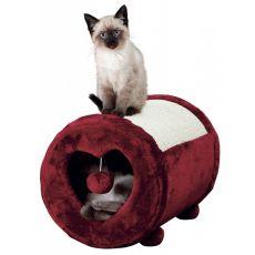 Škrabadlo pre mačku, tmavočervené srdce