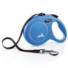 Flexi NEW CLASSIC vodítko L do 50kg, 5m popruh – modré