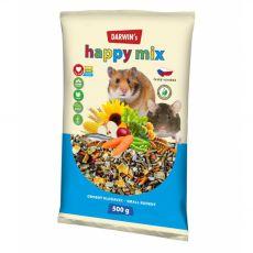 Darwin's Happy Mix krmivo pre drobné hlodavce 500 g