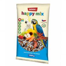 Darwin's Happy Mix krmivo pre veľké papagáje 1 kg