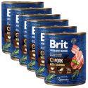 Konzerva Brit premium by Nature Pork  & Trachea 6 x 800 g