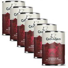 Konzerva CANAGAN Venison & Wild Boar Stew, 6 x 400 g