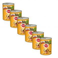 Pedigree konzerva s hovädzím v želé 6 x 400 g