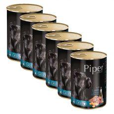 Konzerva Piper Adult s jahňacinou, mrkvou a hnedou ryžou 6 x 400 g