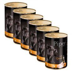 Konzerva Piper Adult s prepelicou 6 x 400 g