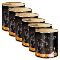 Konzerva Piper Adult s prepelicou 6 x 800 g